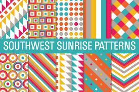 Southwest Pattern Stunning Digital Papers Aztec Tribal Southwest Sunrise Patterns By Sonya