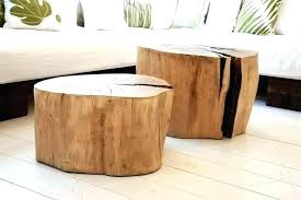 tree trunk coffee table for how to make a coffee table from a tree stump