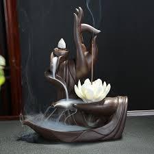 <b>Ceramic Backflow Incense Burner</b> + 10 pieces <b>Cone</b> Incense in ...