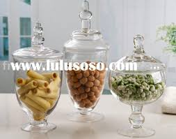 Decorative Glass Candy Jars Clear glass candy jar decorative glass jar for candy for sale 45