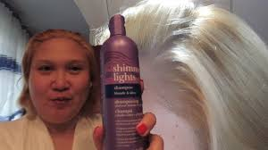Shimmer Lights Orange Hair Toning My Brassy Hair With Clairol Shimmer Lights Purple Shampoo Conditioner