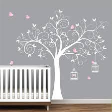 wall murals for nursery ideas wall decal tree with bird cages children nursery wall decals