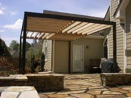 Contemporary Pergola over Stone Patio contemporary-patio