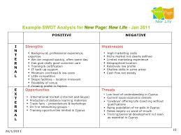 Swot Analysis Example Fascinating Swot Analysis Seminar