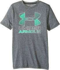 Details About Under Armour Kids Boys Big Logo Hybrid 2 0 Short Sleeve Tee Size Yxs