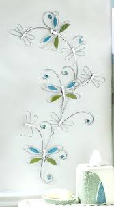 blue metal wall art dragonfly large uk