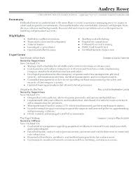 Sample Security Guard Resume Enchanting Resume Format For Security Officer Mmdadco