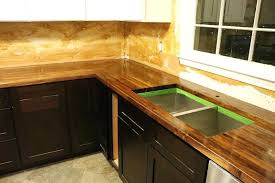 how to cut seal install butcherblock countertops with an kitchen sink countertop