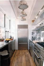 Kitchens With Open Shelving Impressive Modern Galley Kitchen Floor Plans With Stainless Open