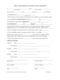 Daycare Contract Template Free Babysitting Contract Fill Online Printable Fillable