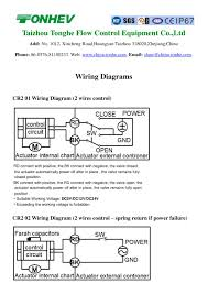 tonhe motorized valve wiring diagrams 1 4 pages