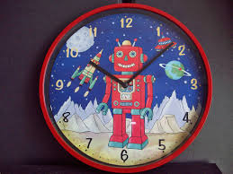 cool office clocks. Fetching Wall Decoration In Kid Bedroom Using Children And Clocks : Cool Robot Clock Office O