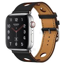 genuine leather three holes watch band for apple watch series 4 40mm series 3