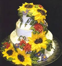 Sunflower And Rose Wedding Cake Flowers Healthy
