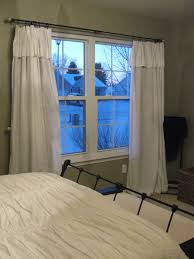 cool white bedroom curtains for double white windows and nice grey wall painting also cool white covering master bed in minimalist bedroom design ideas