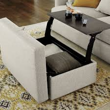 ottoman with storage and tray. Reason Called Lounge This Ottoman Part Of Our Ultimate Family Room Collection Goes To The Next Level With Pullout Tray Nestled Within On Storage And