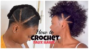 Short Crochet Hair Style how to crochet faux hawk with overthetophaircollection youtube 6735 by wearticles.com