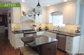Perfect Painting Cherry Kitchen Cabinets White Dayton Painted And In Decor