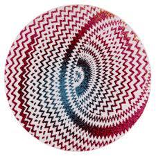 multi color modern chevron round area rug