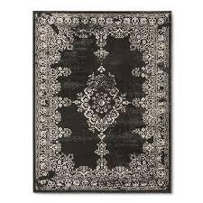 threshold rhett black white overdyed rug