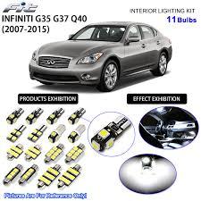 G35 Fog Light Kit Details About 11 Bulbs Xenon White Led Interior Light Kit For 2007 2015 Infiniti G35 G37 Q40