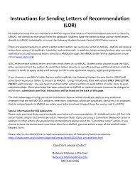 interfolio upload letter of recommendation instructions for sending letters of recommendation lor