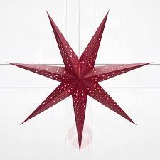 Stern Solvalla Zum Aufhängen 75 Cm Rot
