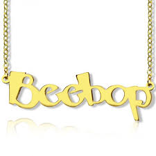 create your own name necklace 18ct gold plated designed by name accessories