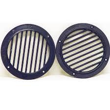 itc 3 3 4 inch black plastic boat vent covers pair