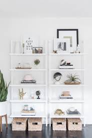 White modern bookshelf Amazon Get The Look Of This Modern Bookshelf Styling From Designsponge On The Blog Pinterest Get The Look Modern Bookshelf Styling Diy Home Decor Home Decor