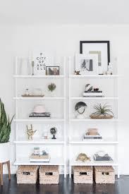 White modern bookshelf Amazon Get The Look Of This Modern Bookshelf Styling From Designsponge On The Blog Pinterest Get The Look Modern Bookshelf Styling Diy Home Decor Home Decor