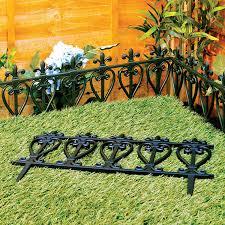victorian style black fencing garden edging ornate fence border victorian style black fencing garden edging ornate fence border for lawn