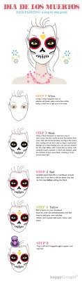 easy skull face paint tutorial