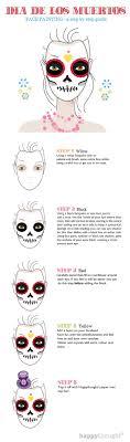 skull face paint tutorial steps calavera sugar skull idea