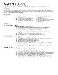 Restaurant Waiter Resume Sample | Cvfree.pro