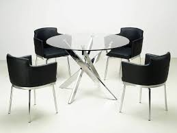Black Leather Dining Room Chairs Modern Black Eco Leather Lounge Arm Chair Hudson Modern Dining