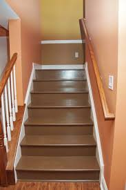 Painted Stairs Painted Basement Stairs Fresh In Before And After Of Stairs