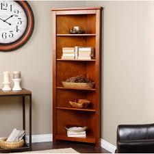corner shelves furniture interesting shelves brown varnished wooden corner bookcase together with grey wall and