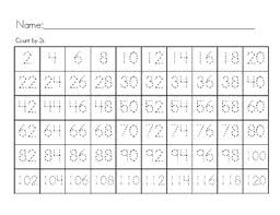Count By 2s 3s 5s 10s Trace Numbers Notice Patterns Number Chart