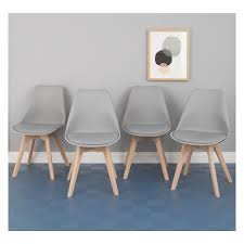 set of 4 dining chairs. Amazing JERRY Set Of 4 Grey Dining Chairs Buy Now At Habitat UK Regarding