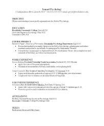 Psychology Resume Examples Fascinating Psychology Resume Examples Clinical Psychologist Resume Example