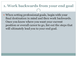 Professional Goals List Ppt 4 Tips For Setting And Achieving Career Goals