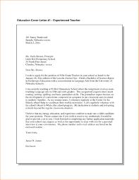 Cover Letter Examples For Teachers Sample Cover Letter For Teacher