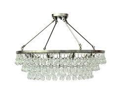 glass drop chandelier flush mount crystal brushed nickel celeste tapered glass drop chandelier