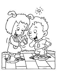 Kleurplaat Kinderen Spelen Kleurplatennl