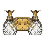 plantation double bath sconce with clear optic glass item rs 03hk 5312x brass bathroom lighting fixtures
