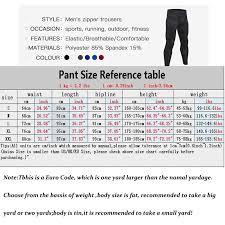 Training Pants Size Chart New Zipper Pocket Sport Pants For Men Quick Dry Men S Running Pant Jogging Pant Gym Fitness Clothing Training Sport Trouser