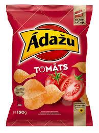 <b>Картофельные чипсы со вкусом</b> томатов - Ādažu Čipsi