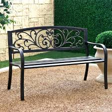 patio wrought iron patio bench lush benches furniture with adorable single this picture here