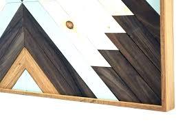 abstract wood wall art geometric diy